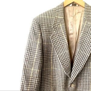 Vintage 80's Givenchy Houndstooth Plaid Sp…